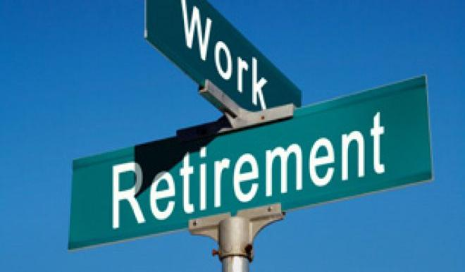 Work/Retirement Road Sign